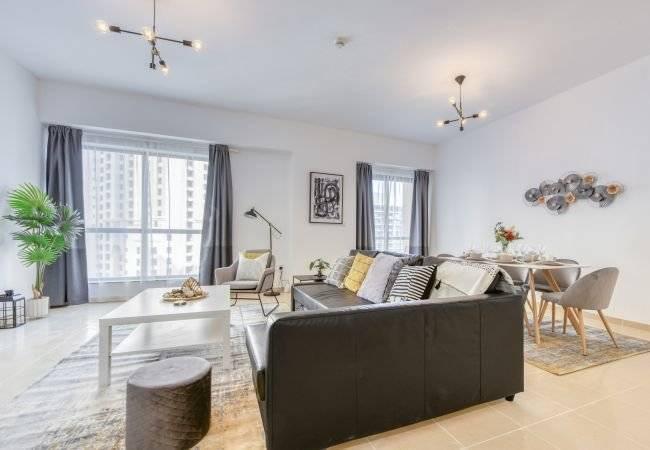 Dubai - Holiday rental - Apartment - 5 Persons - 2 Bedrooms - 2 Bathrooms - 129 m2 - Swimming pool
