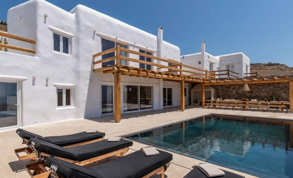 Mykonos - Maison - Location saisonnière - 10 Personnes - 5 Chambres - Piscine.