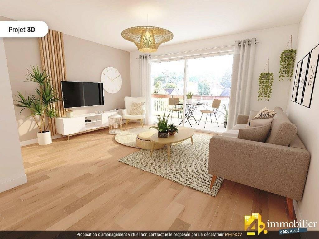 EYBENS appartement 3P+C 74,66 m²